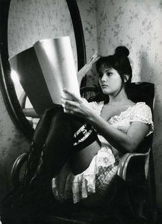 Claudia Cardinale on set of LA VIACCIA  (1961)