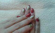 Christmas porcelain nails.