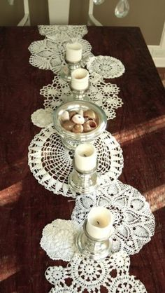 Now we know what to do with all those doilies!