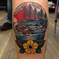 Resultado de imagen de tattoo rowboat
