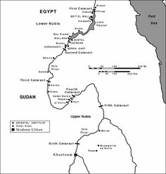 Map of Nubia in Ancient Egypt  Homeschooling Geography