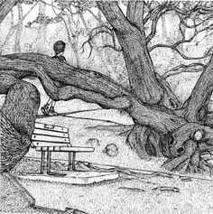Lisala H. — A park bench I pass on my walks, overlooking the...