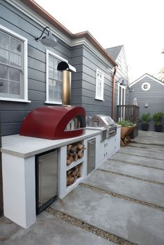 Cupcakes and Cashmere our outdoor renovation - outdoor kitchen #backyard