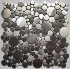 stainless steel mosaic tile or pebbles