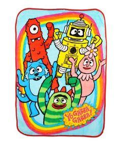"Yo Gabba Gabba ""Friends Rock!"" Ultra Soft Blanket - colors as shown, one size"