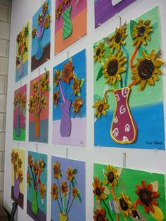 à la manière de ....van gogh inspired sunflowers--maybe use model magic clay and modge podge/paint