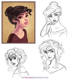 Lady Vittoria Sketches - October 2014 by The-Ez on deviantART