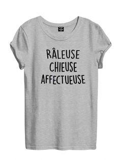 T-shirt Femme RÂLEUSE CHIEUSE AFFECTUEUSE