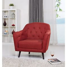 Gold Sparrow Aurora Rustic Red Arm Chair - Overstock™ Shopping - Great Deals on Living Room Chairs