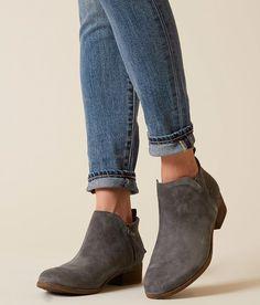 TOMS Deia Ankle Boot - Women's Shoes in Castlerock Grey Suede | Buckle