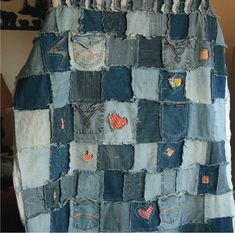 Jean Quilt - I have already started saving jeans of various shades for this, especially jeans with fun designs on the back pockets.