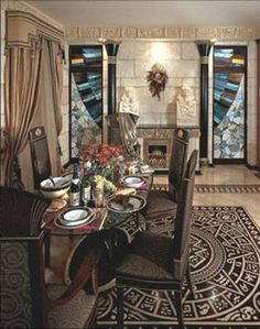 Dining Room Egyptian Style Interior Designs For Homes : Egyptian Within  Egyptian Style Interior Design