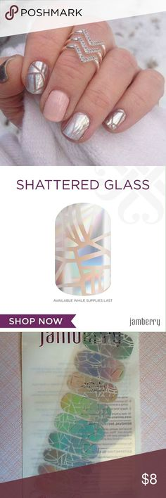 Retired shinning personality Jamberry wraps Brand New half sheet of jamberry wraps. Jamberry wraps can last 2 weeks or more on nails. Each half sheet is enough for one manicure, one pedicure, and 2 accent nails. Each purchase comes with application instructions! Bundle to save! Jamberry Makeup