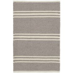Dash & Albert Lexington Rug - Grey / Ivory - 91 x 152 cm (370 CAD) ❤ liked on Polyvore featuring home, rugs, grey, grey area rug, striped rug, recycled outdoor rugs, stripe rugs and beige rug