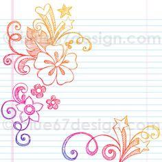 Summer Hibiscus Sketchy Notebook Doodles Illustration by blue67design   Flickr - Photo Sharing!