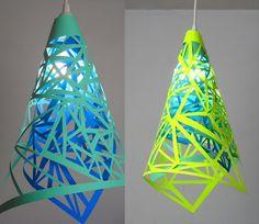DIY paper cutout pendant lamp