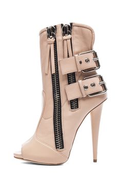 Too sexy with some tight jeans!!!!!  Giuseppe Zanotti|Alien Booties in Nude