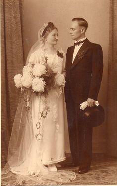 Black and Wihite Photo Vintage German Bridal Pair Church Wedding | eBay