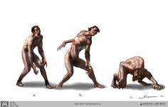 werewolf transformation- human to wolf #1