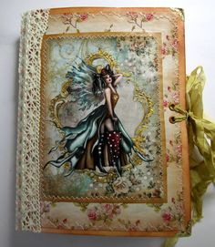 Fairy themed journal 29 by TuiresCraftsThings on Etsy