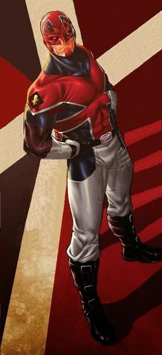 Brian Braddock aka Captain Britain - Revolutionary War; I prefer this version of the white breeches costume to the regular one from the magazine and Excalibur.