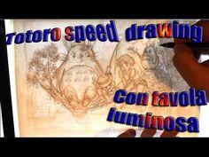 totoro speed drawing - YouTube