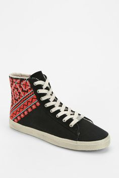 KIM & ZOZI Geo Weave High-Top Sneaker