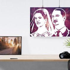 Този поп арт портрет е свързан с идеи за: - подаръци за сватба - годежни пръстени - подарък за младо семейство - луксозни подаръци за сватба - подарък за годишнина - организация на сватба Polaroid Film