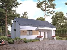 Cytrus 2 projekt domu - Jesteśmy AUTOREM - DOMY w Stylu Outdoor Structures, Outdoor Decor, Case, Mj, Home Decor, Projects, Decoration Home, Room Decor, Home Interior Design