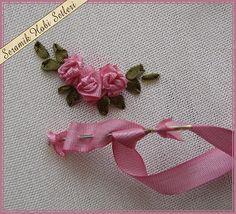 craft, ribbon rose tutorial, ribbon roses tutorial, bordado en cintas, bordado con, ribbon embroideri, ribbon flower, cintas bordado, bordados en cinta