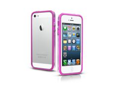Bumper case in transparent PVC for iPhone 5, pink color.   http://www.sbsmobile.com/iphone/protections_specific-cases/1970_bumpy-case-for-iphone-5_TEBUMPTRIP5P.html