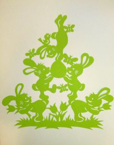 Paper cut paper cutting modern art Bunny by WattwurmAllerlei