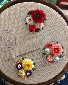 silk ribbon embroidery kits for beginners Hand Embroidery Videos, Hand Embroidery Flowers, Embroidery On Clothes, Flower Embroidery Designs, Creative Embroidery, Hand Embroidery Stitches, Embroidery Jewelry, Embroidery Hoop Art, Silk Ribbon Embroidery