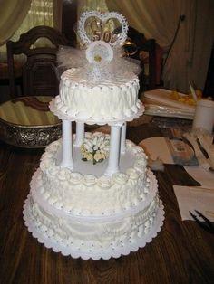 Golden Anniversary Cake, Mom Dad Anniversary, 50th Wedding Anniversary, Anniversary Parties, Anniversary Cakes, Dragon Wedding, 50th Party, Birthday Cake Girls, Beautiful Wedding Cakes