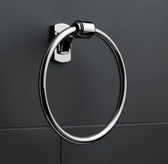 Campaign Towel Ring - bath 2, 3, 4, mudroom and basement