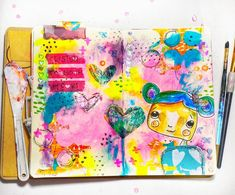 💜Listen to your Heart #artjournal