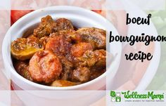 Delicious and savory Boeuf Bourguignon recipe made with real food. #fall #winter #comfort