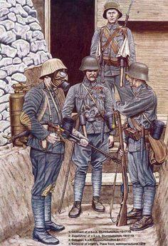 1917-1918 Austro-Hungarian Strumtruppen -tropas de asalto