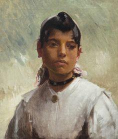 Frank Duveneck - Girl in White Waist