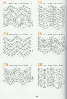 variations of the basic chevron stitch - link is foreign with no pattern instrPontos e Roupas com ponto Zig ZagISSUU - 262 Patrones de crochet by Darling GabellaRipple stitches onlyPart ripple stitch (total 2 parts)images about Crochê pontosChevron Chevrons Au Crochet, Crochet Zig Zag, Motif Zigzag, Crochet Ripple, Zig Zag Pattern, Love Crochet, Knit Crochet, Irish Crochet, Chevron Patterns