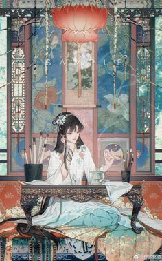 Chinese Artwork, Chinese Drawings, Art Drawings, China Art, Anime Angel, Pretty Art, Anime Art Girl, Ancient Art, Ancient China