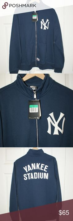 NY Yankee Nike Full Zip sweatshirt XL....NWT NY Yankee Nike Full Zip sweatshirt XL....NWT...color: navy and white...70% cotton/30% polyester....smoke/pet free....shipping within 1 business day....please ask any questions. Nike Sweaters Zip Up
