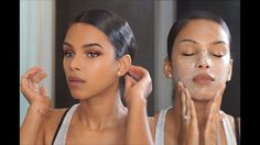 (All-in-One) Daily Radiant Skin Care & Beauty Routine + Sleek Hair in 3mins! - YouTube