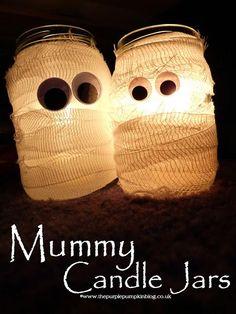 diy Candles: DIY Candles DIY Home DIY Crafts: Mummy Candle Jars {Crafty October}