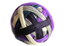 Tangy SelfStriping Sock Yarn in Blueberry MOON by TwistedLimoneDesigns, NEW 04.01.14