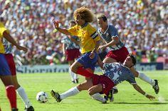 Carlos Valderrama - the hub of the wheel - #10 - surfer - 1994 World Cup vs USA