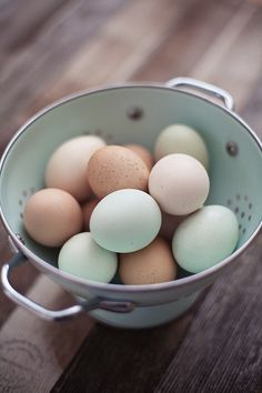 This is what the eggs we ate growing up looked like. The best part was they were from our chickens!