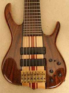 Yes, bass players can be as excessive as their six-string associates. Melvin Lee Davis, for example, was not content with four strings. Or five. Or six. So he got luthier Ken Smith to devise a number of these. Huge hands = huuuge... range.