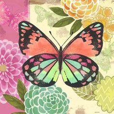 Butterfly Flight Pink by Jennifer Brinley | Ruth Levison Design