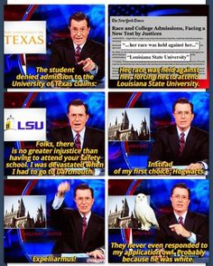 .....and this is why I love Stephen Colbert!